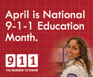 April is 9-1-1 Education Month