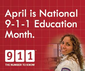 April is 9-1-1 Education Month
